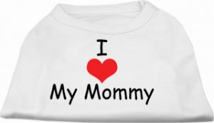 """""""I Love My Mommy""""  Dog Clothes Shirt"""