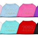 """Trouble Maker"" Rhinestone Dog Shirt"