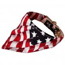 "15 - 17"" Patriotic America Bandana Dog Collar"