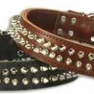 "21, 23 & 25"" Big Breed Spikes Leather Dog Collar"