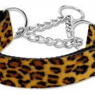 "Med 10"" - 18"" Leopard Print Adjustable Nylon Safety Dog Collar with FREE SHIPPING"