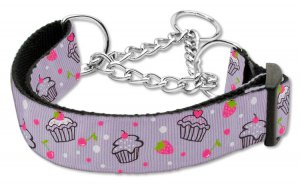 "Med 10� - 18"" Lilac Cupcakes Adjustable Nylon Safety Dog Collar with FREE SHIPPING"