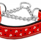 "Med 10"" - 18"" Red Adjustable Nylon Anchors Safety Dog Collar with FREE SHIPPING"
