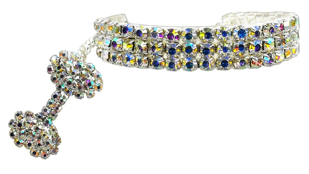 Glam Collar for Dogs SIZE LARGE Clear Austrian Crystal Pet Jewelry