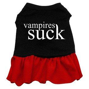 Lg, XL Red Bottom VAMPIRES SUCK Halloween Dog Dress
