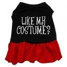 Lg, XL Red Bottom LIKE MY COSTUME?  Halloween Dog Dress
