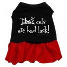 2XL & 3XL Red Bottom CATS ARE BAD LUCK Halloween Dog Dress