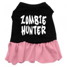 XS, SM & Med. Pink Bottom ZOMBIE HUNTER Halloween Dog Dress