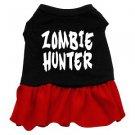 Lg, XL Red Bottom ZOMBIE HUNTER Halloween Dog Dress
