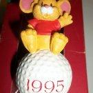 Golf Ball CHRISTMAS Ornament Tee Off Mouse AMERICAN GREETINGS 1995