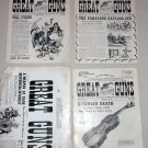 Great Guns Newspapers 1955 Andy Palmer's Volumes 1 2 3 & June 1953 4 Issues