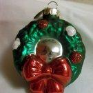 Radko Celebrations Wreath Christmas Ornament Has Mirror Center