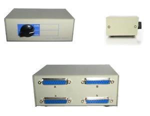 Data Transfer Manual Switch Box 4 Ports DB25 2-Way - 100% New!