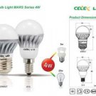 CELEX LED Bulb 4W 2700K Warm White E14 AC100-240V - 100% New!