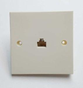 10 Pieces of RJ11 Telephone Single Socket Module Faceplate 6P6C - 100% New!