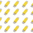 20 Pieces of USB A Male to USB A Male Connector Yellow  - 100% New!