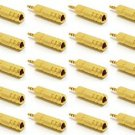 20 Pieces of 3.5mm Male to 6.3mm Female Stereo Gold Jack Adapter - 100% New!