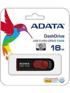 ADATA C008 USB 16GB Flash Drive (Black) - Made in Taiwan!