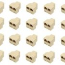 20 Pieces of RJ45 Female to 2 x RJ45 Female Ethernet Extender 8P8C - 100% New!