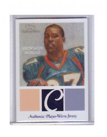 Knowshon Moreno 2009 National Chicle Authentic Jersey RC #NCR-KM Broncos
