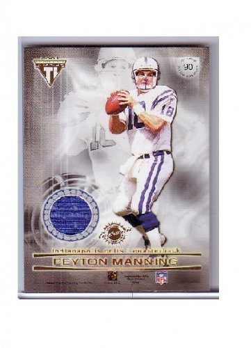 Peyton Manning 2001 Titanium Double Sided Jerseys #90 - Edgerrin James Colts