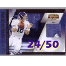 Peyton Manning #/50 2010 Gridiron Gear Game Breakers Prime Patch #9 Colts, Broncos