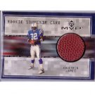 Edgerrin James 1999 UD MVP Rookie Souvenir Card #EJ-S Colts