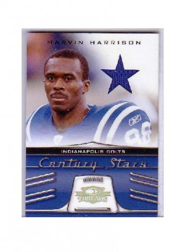 #/25 Marvin Harrison 2006 Threads Century Stars Jersey #CS-9 Colts