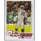 Peyton Manning 2001 Fleer Ultra Quick Strike #10 of 20 QS  Colts, Broncos