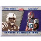 Peyton Manning 2002 Fleer Tradition Classic Combinations Hobby #9 CC Colts #/1500