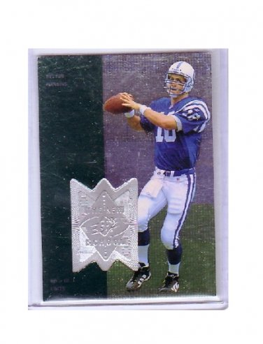 Peyton Manning 1998 SPx Finite The New School #311 RC Rookie Colts, Broncos #/4000