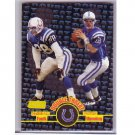 Peyton Manning/Marshall Faulk 1998 Stadium Club Double Threat #DT1 RC Rookie Colts, Broncos