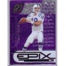 Peyton Manning 2005 Zenith Epix Purple 3rd Down #20 Colts, Broncos Serial #026/150