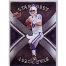 Peyton Manning 2008 Upper Deck Star Quest Rainbow Black #SQ25 Colts, Broncos