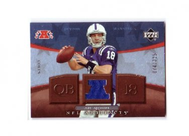 Peyton Manning 2007 UD NFL Artifacts AFC Apparel Jersey #AFC-PM Colts, Broncos Serial #/325
