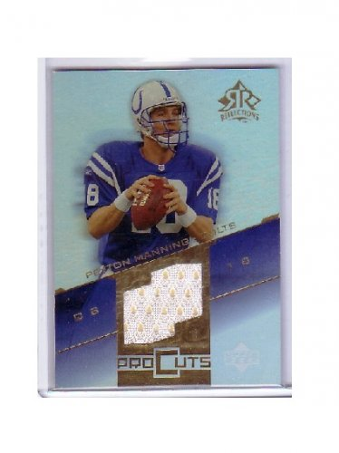 Peyton Manning 2004 Reflections Pro Cuts Jerseys Gold #PCPM  Colts, Broncos