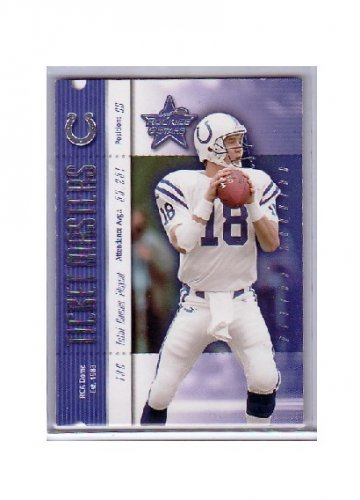 Peyton Manning 2000 Leaf Ticket Masters #IM13 Colts, Broncos #/2000