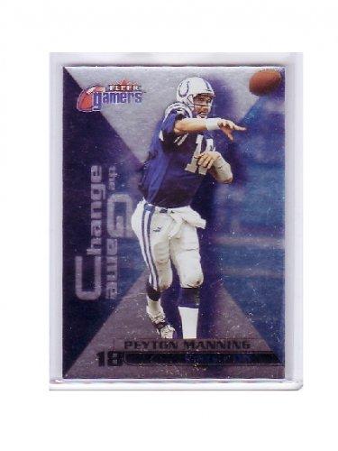 Peyton Manning 2000 Fleer Gamers Change the Game #8 of 15 CG Colts, Broncos