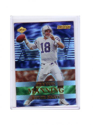 Peyton Manning 2000 Collector's Edge Supreme Route XXXIV #R1 Colts, Broncos