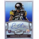Emmanuel Sanders 2010 Bowman Sterling Blue Refractor RC Autograph #BSA-ES Broncos Steelers #/99