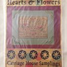 "CARRIAGE HOUSE SAMPLINGS ""Hearts & Flowers"" cross stitch pattern"