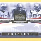 2005 Triplets Richard Seymour David Givens Deion Branch Patriots /100