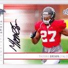 2009 UD Signature Shots Autograph Thomas Brown Falcons