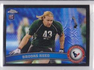 2011 Topps Chrome Black Refractor Brooks Reed Texans RC /299