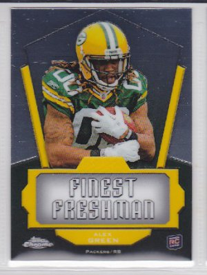 2011 Topps Chrome Finest Freshman Alex Green Packers RC