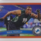 2011 Topps Chrome Orange Refractor Nick Fairley Lions RC