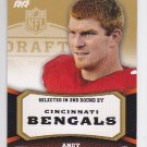 2011 Topps Rising Rookies Gold Andy Dalton Bengals RC