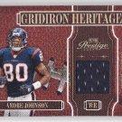 2005 Prestige Gridiron Heritage Jersey Andre Johnson Texans