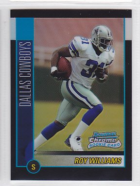 2002 Bowman Chrome Refractor Roy Williams Cowboys /500 RC