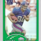2002 Topps Chrome Refractor Jeremy Shockey Giants Saints RC